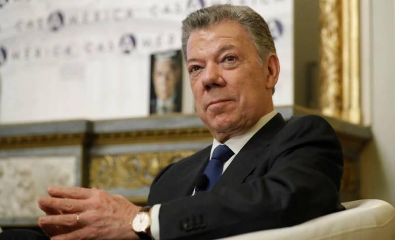 El expresidente colombiano Juan Manuel Santos.