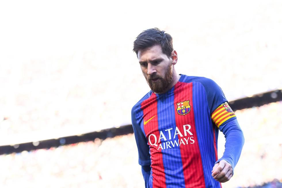 Messi en el partido contra Las Palmas.