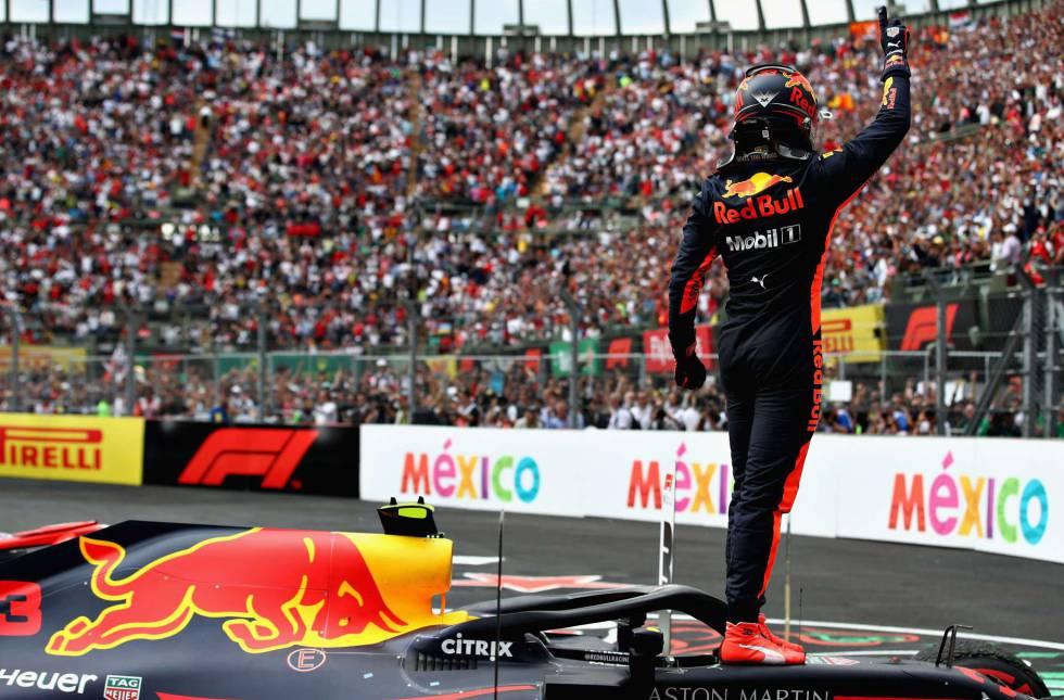 Resultado de imagen para Verstappen del equipo (Red Bull) ganó el GP de México.