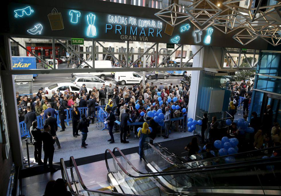 La inauguración de la tienda de Primark en Gran Vía en octubre
