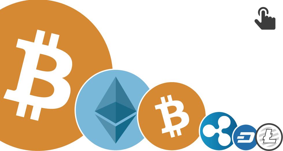 GRÁFICO: Valor del bitcoin y las principales criptomonedas