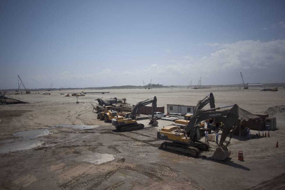 Obras en la zona del nuevo puerto en Veracruz.
