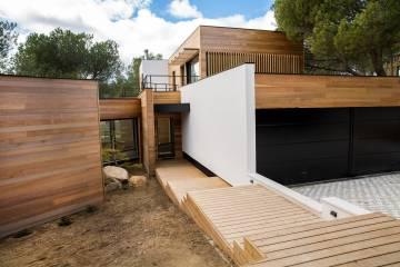 Casa de madera en Torrelodones (Madrid) construida por 100x100 Madera.
