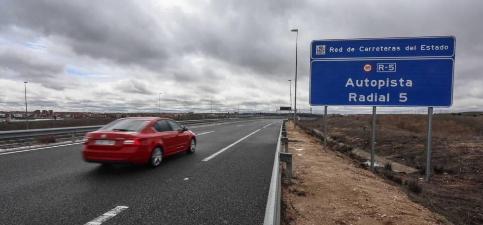Autopista Radial-5, en Madrid.