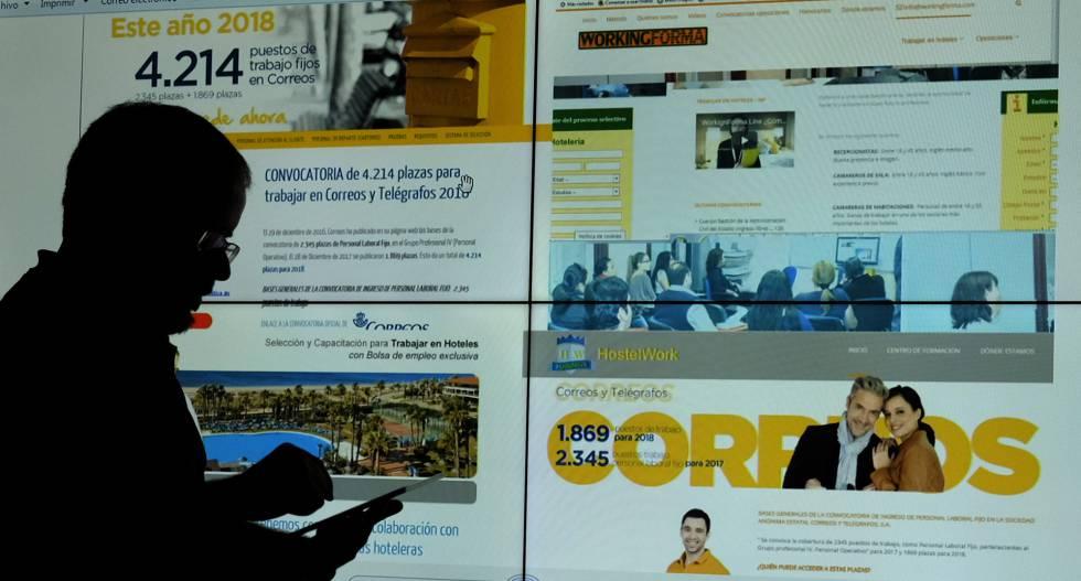 Estas academias atraen alumnos con páginas web en las que ofrecen información sobre oposiciones o bolsas de empleo en hoteles.