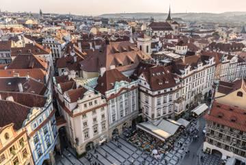 La Plaza de la Ciudad Vieja, en Praga.