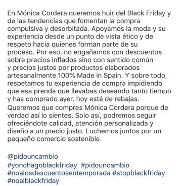 La resistencia contra el 'Black Friday'