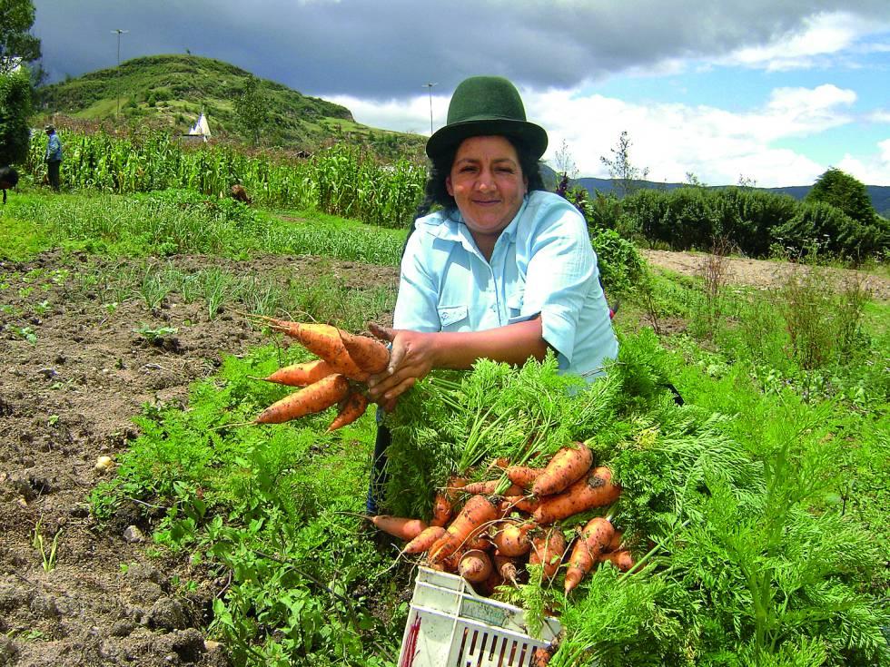 Una de las beneficiarias de la acción Microcréditos para cambiar su vida, para jóvenes y mujeres de Ecuador.