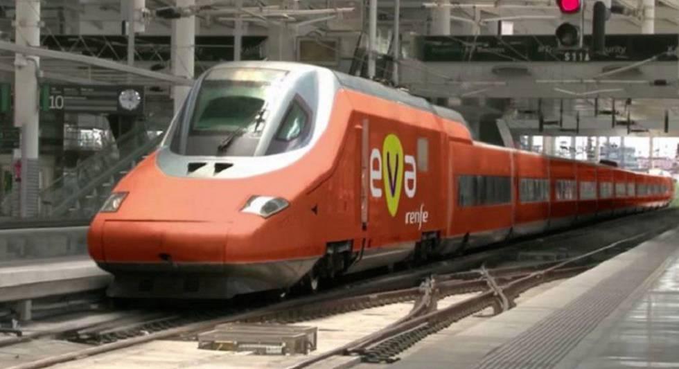 Recreación del tren EVA de Renfe.