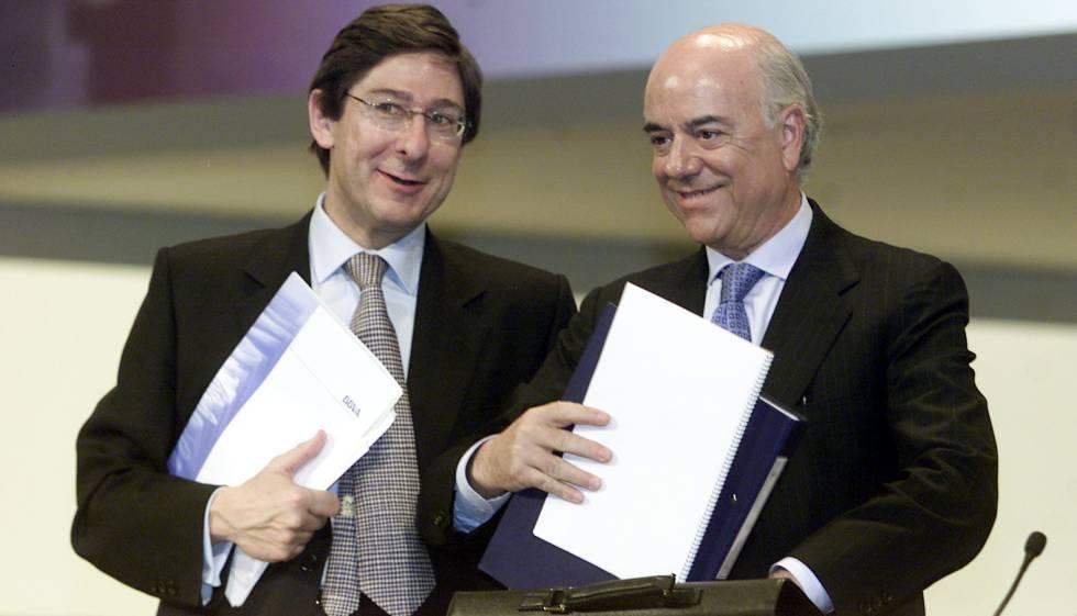 José Ignacio Goirigolzarri y Francisco González, en la junta de accionistas de 2004