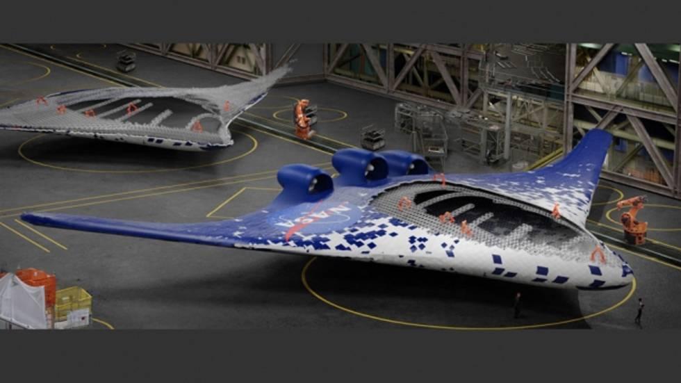 El ala se podría fabricar por robots autónomos.