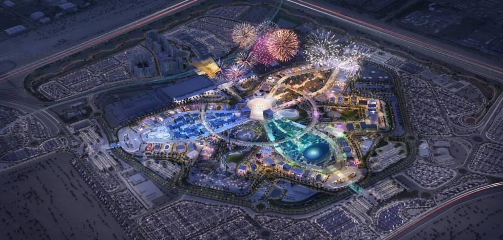 Recreación de la Expo 2020 de Dubái.