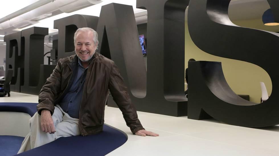 Richard Vaughan, en la redacción de EL PAÍS.