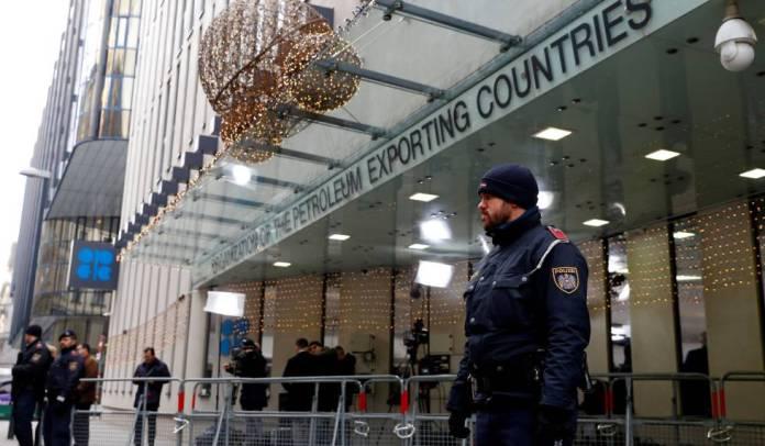 Entrada a la sede de la OPEP, en Viena.