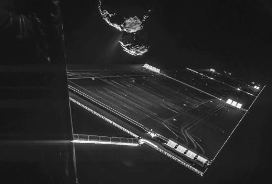 Un 'selfie' de la nave Rosetta a 16 kilómetros del cometa 67P