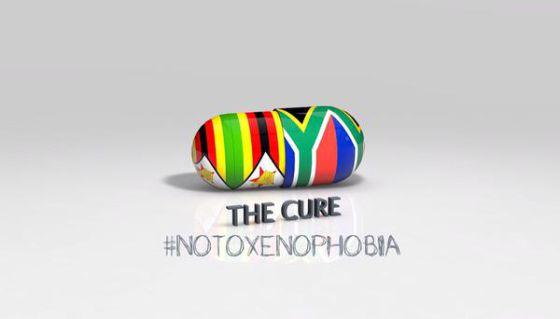 Una de las imágenes que han proliferado en Twitter contra la xenofobia en Sudáfrica.