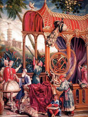 Astrónomos jesuitas con el emperador chino Kangxi'.