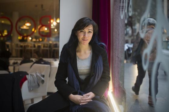 La lingüista Luz Rello, investigadora de la dislexia, en Madrid.