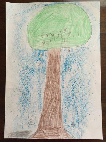 Dibujo de un árbol de un niño de 7 años.