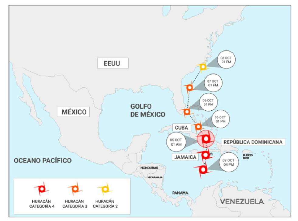 Alarma en Florida, Cuba y Haití por el huracán Matthew