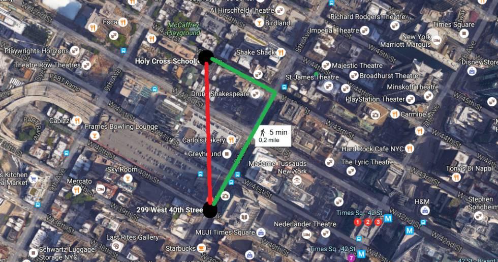 """Manhattan, distancias y """"el juicio de Pitágoras"""""""