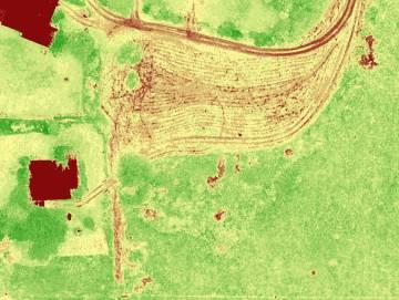 Una foto realizada por el equipo de 3Drone Mapping durante el estudio de un terreno.