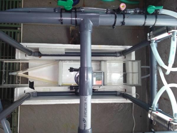 Vista aérea del sistema de selección de flujo. IEO
