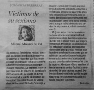 La columna de Manuel Molares do Val.