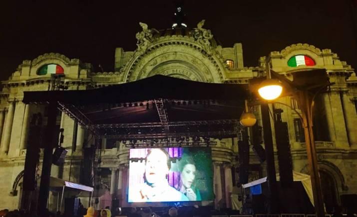 homenaje a Juan Gabriel en el Palacio de Bellas Artes, en Ciudad de México.