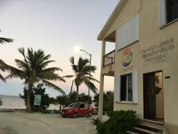 Edificio del Parque Nacional Arrecifes de Xcalak.