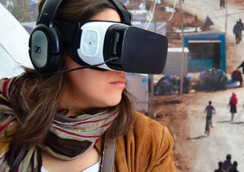 Experiencia de realidad virtual puesta en marcha por MSF para conocer los campos de refugiados. Foto: MSF.