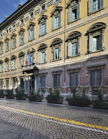 Palazzo Madama, en Roma, sede del Senado italiano, donde impera la sofisticación.
