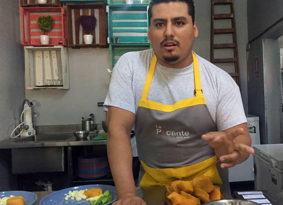 El chef Fransua Robles, en La Picante.
