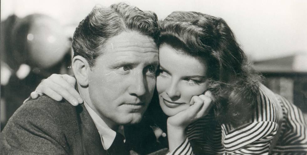 Spencer Tracy y Katherine Hepburn en la película 'La mujer del año', estrenada en 1942.