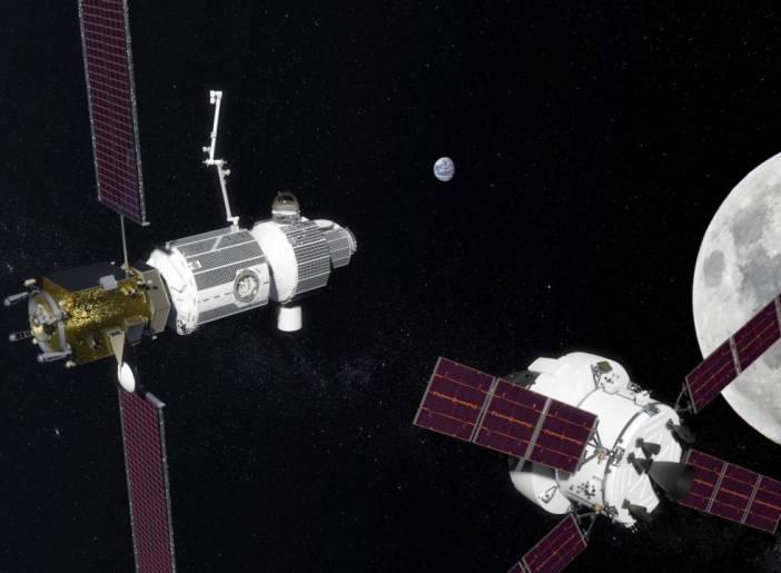 Prototipo de la base en la órbita lunar.