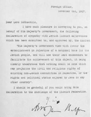 100 años de la Declaración Balfour: una efeméride para celebrar