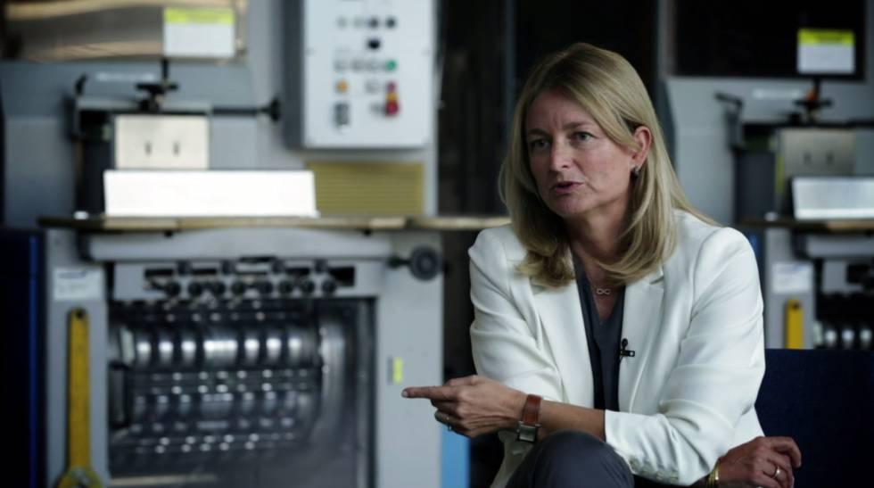 Laura Ros, directora general de Volkswagen España, en un momento de la charla.