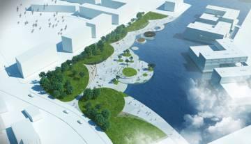 Propuesta de parque en lugar de viviendas para concurso Europan