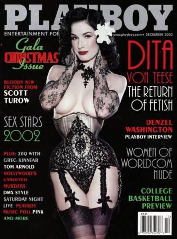 Dita Von Teese en la portada de la revista de 2002.