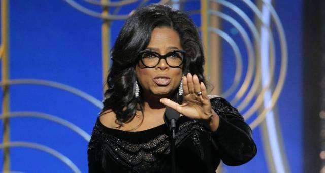 Oprah Winfrey en la entrega de los Globos de Oro