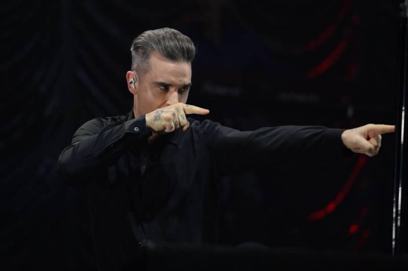 Robbie Williams en un concierto en Manchester en diciembre de 2016.
