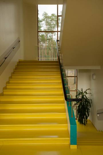 Aalto diseñó el sanatorio como si fuera un instrumento médico, pensando en la luz y el color.