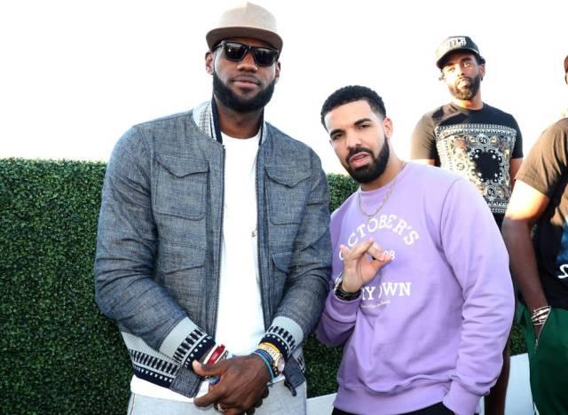 Lebron James y el rapero Drake en Toronto (Canadá), en 2017.