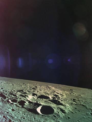 La superficie de la luna fotografiada por la sonda 'Bersheet'