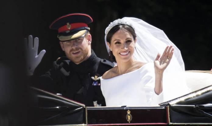 Los duques de Sussex, en el día de su boda, el 19 de mayo de 2018 en Windsor.