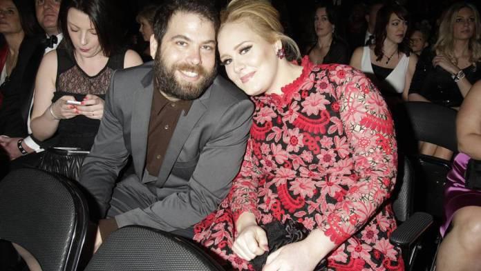 Adele with Simon Konecki at the Grammy awards 2013.