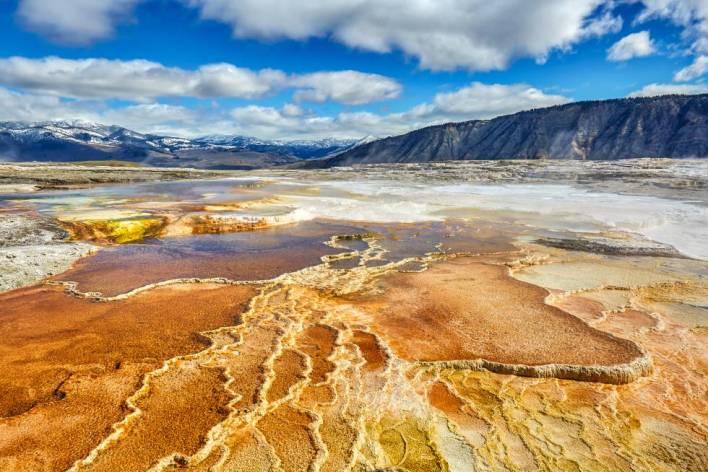 Aguas termales en el Parque Nacional de Yellowstone, en EE UU.