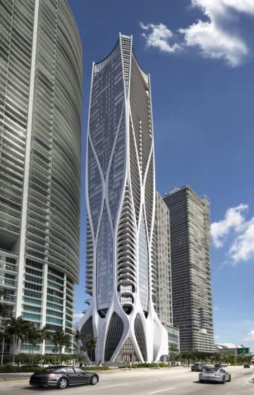 El edificio diseñado por Zaha Hadid en Miami donde vivirán los Beckham.