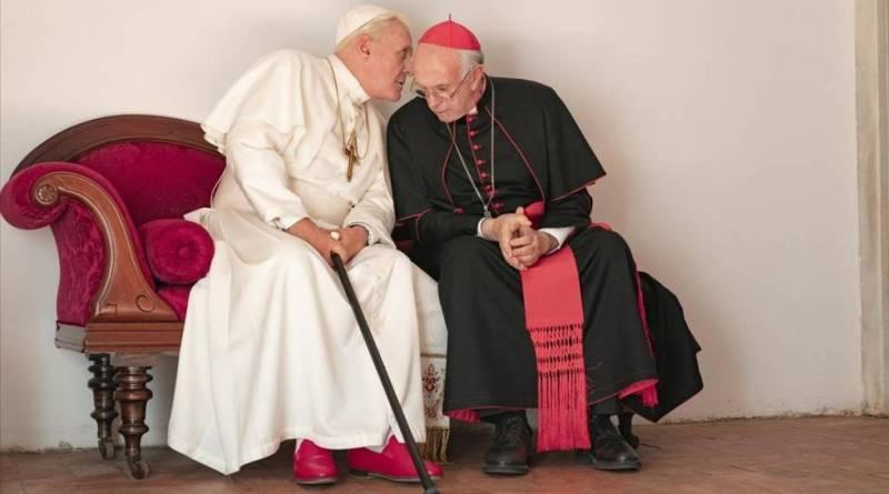 'Dos Papas' El gran duelo interpretativo entre Anthony Hopkins ( Benedicto XVI) y  Jonathan Pryce ( Francisco)