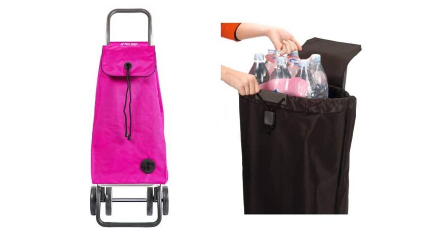 A shopping cart that does not occupy? This one, for sale on Amazon in 8 colors, is foldable